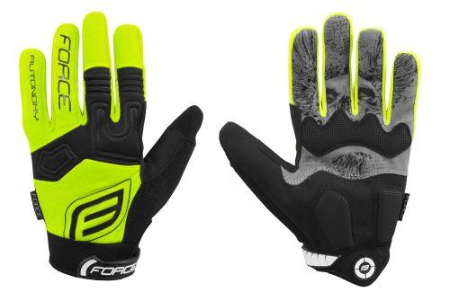 rukavice Force MTB AUTONOMY 17, čierno-modré XL