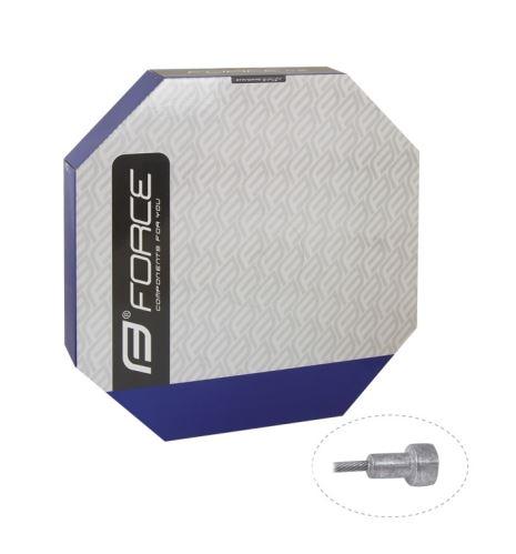 lanko brzdové FORCE cestné 2,0m / 1,5mm BOX 100ks