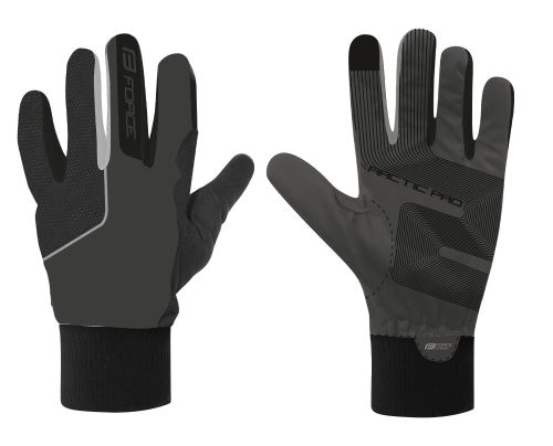 rukavice zimné FORCE ARCTIC PRO, čierne