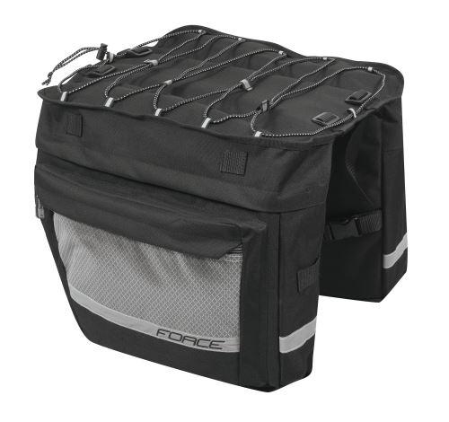 brašna-dvojbrašna zadné FORCE NOEM, čierna 2x18 l