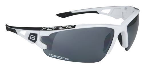 okuliare FORCE CALIBRE biele, čierna laser sklá