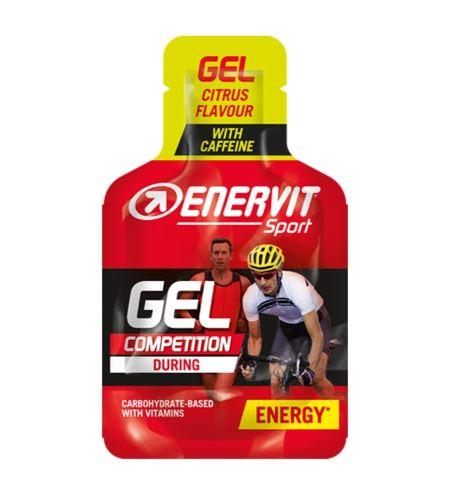 Energetický gél ENERVIT ENERVITENE - 25ml Citron + kofeín