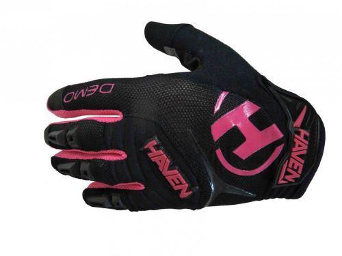 Dlouhoprsté rukavice Demo Long KID black / pink