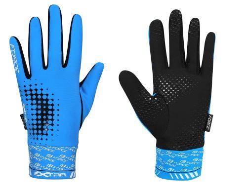 rukavice Force EXTRA 17, jar-jeseň, modré M