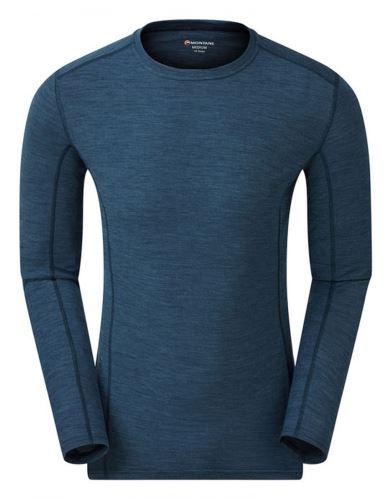 pánske tričko Montane Primino 140g 7 Summits, Dlhý rukáv, Narwhal Blue