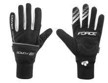 rukavice zimné FORCE COVER, čierne M