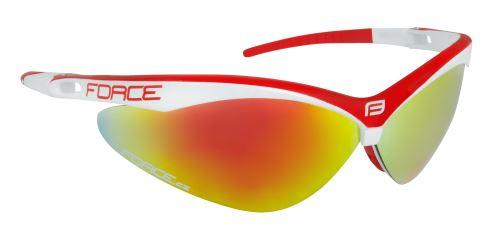 okuliare FORCE AIR bielo-červené, červená laser sklá