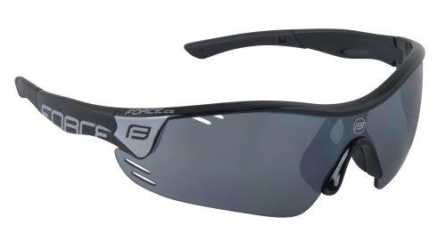 Okuliare FORCE RACE PRO - čierne - čierna laser skla