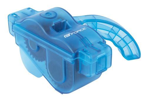 Čistička - práčka reťazí FORCE plastová s rukoväťou - modrá