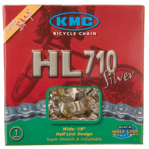 REŤAZ KMC HL-710 HALF-LINK SILVER BOX