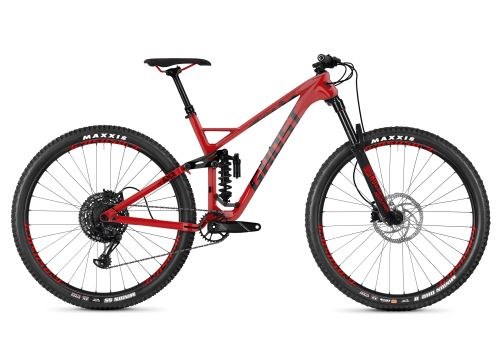 Celoodpružený bicykel GHOST Slamr 6.9 LC riot red / night black XL 2019