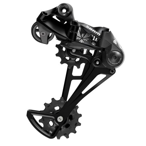 Prehadzovačka SRAM NX Eagle, 12tich rýchlostné, čierna
