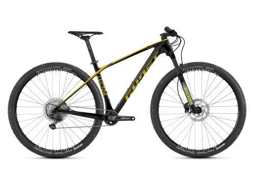 Horský bicykel GHOST Lector Base - Jet Black / Kiwi Green - 2021
