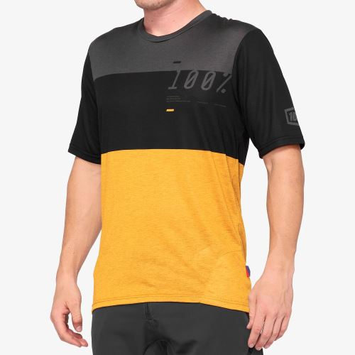 Dres 100% AIRMATIC Jersey Black / Mustard