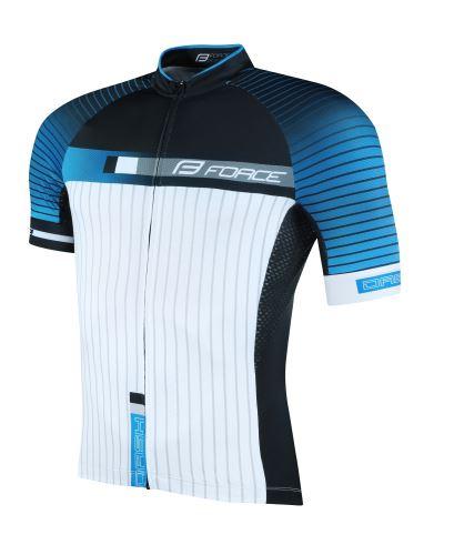 dres FORCE DASH krátky rukáv, modro-čierno-biely
