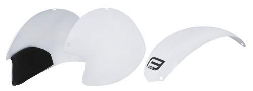 plasty k prilbe FORCE GLOBE súprava 3 ks, biele