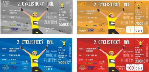Lístok na cyklistický bál - 5.1.2019 -