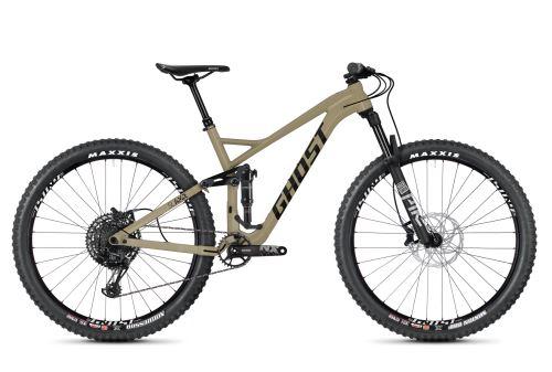 Celoodpružený bicykel GHOST SLAMR 4.9 AL - Classic Tan / Jet Black - 2020