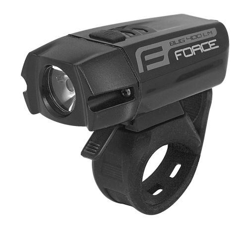 svetlo predné FORCE BUG-400 USB čierne