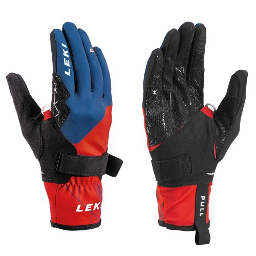 Rukavice LEKI Tour Guide V Glove red-blue