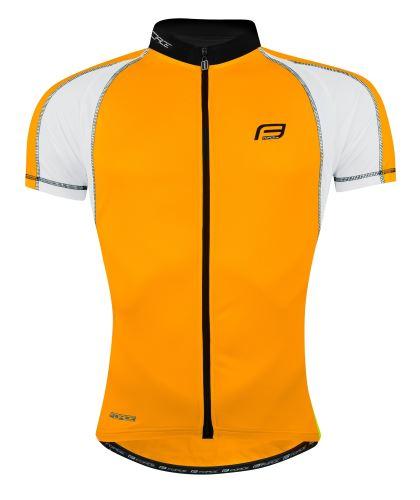dres FORCE T10 krátky rukáv, oranžovo-biely XS