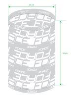 Šatka multifunkčná FORCE zimné, UNI bielo-šedá