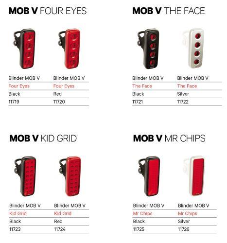 Zadné svetlo Knog Blinder MOB V - Rôzne varianty