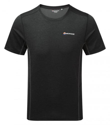 MONTANE DART T-Shirt-Black - pánske tričko krátky rukáv