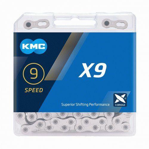 REŤAZ KMC X9 STRIEBORNÝ BOX