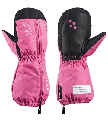 Rukavice LEKI Little Sleeve Mitt pink-black