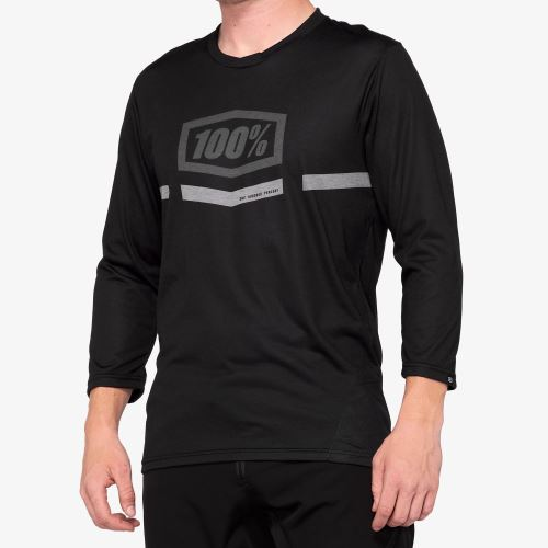 Dres 100% AIRMATIC 3/4 Sleeve Jersey Black