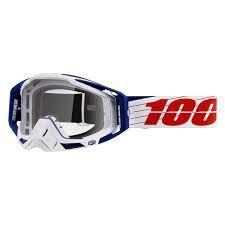 Okuliare 100% RaceCraft Bibal White - Číra šošovka