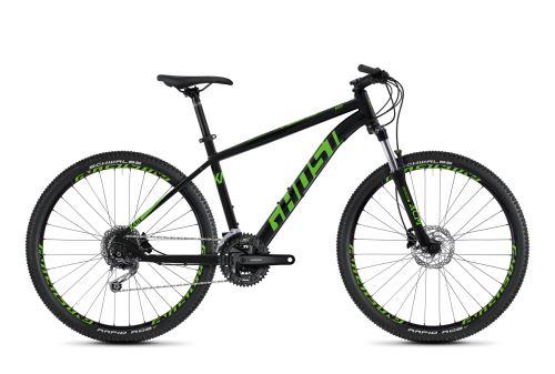 Horský bicykel GHOST KATO 4.7 AL - Night Black / Riot Green - 2020