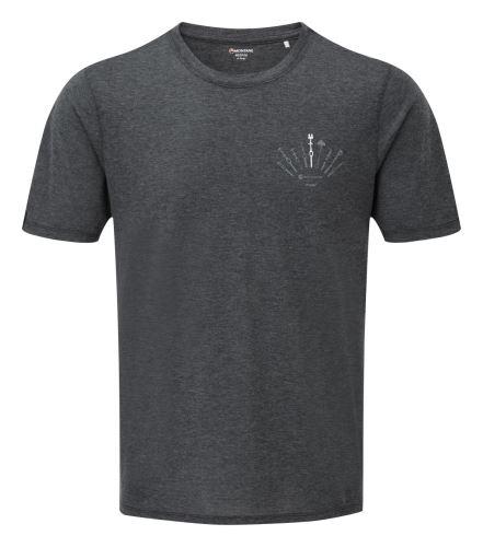 Pánske tričko MONTANE TRAD Charcoal, krátky rukáv