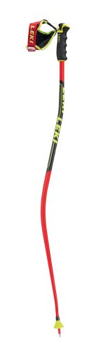 palice LEKI Super G / Downhill E neonred / neonyellow-black-white 120