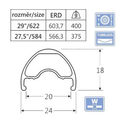 Ráfik javax WD209, 29