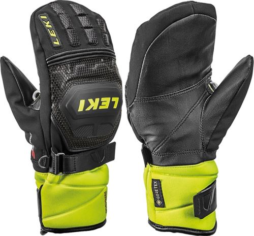 Rukavice LEKI Worldcup Race Coach Flex S GTX Jun Mitt black-ice lemon