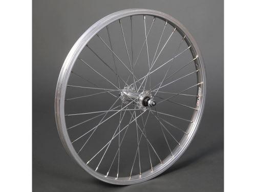 Zapletené koleso Remerx 406 Predné, Al, náboj Fe, strieborné, os 9,5mm