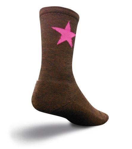 Ponožky Sock Guy - Wooligan Pink star L-XL